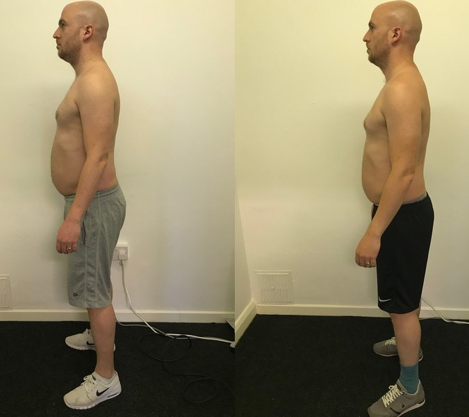 Sam - before and after side