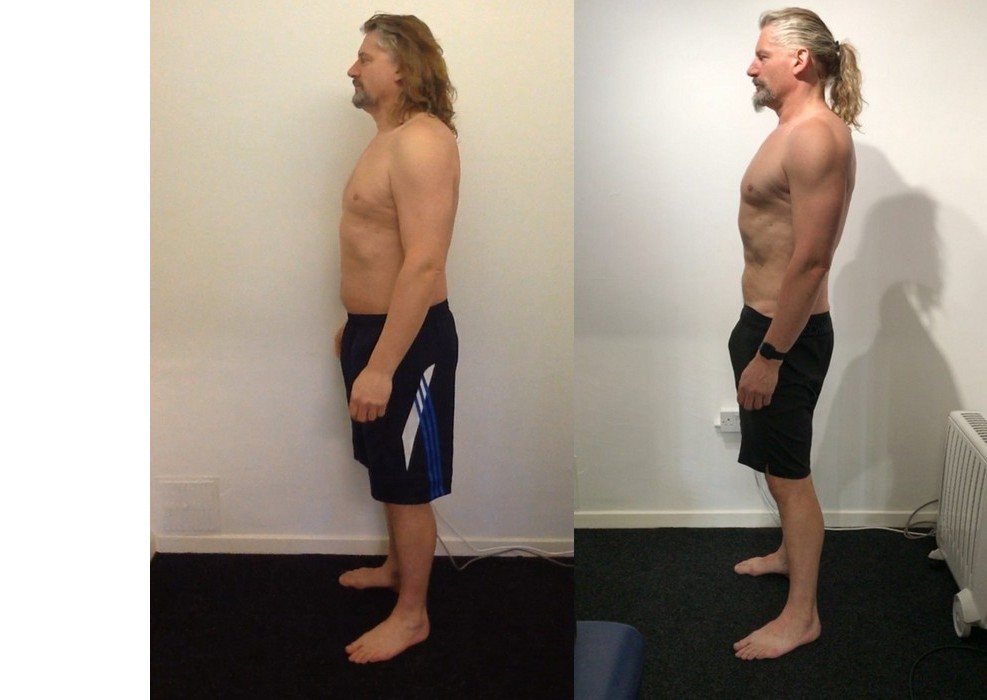 You're not too old to build muscle. Before and after of an older client