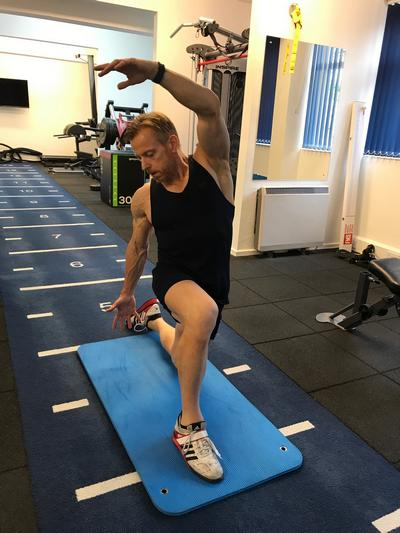 Are you ready to recover? Psoas stretch being demonstrated by Jon from Life Force Fitness