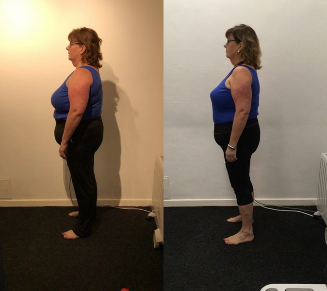 client before and after transformation from the side
