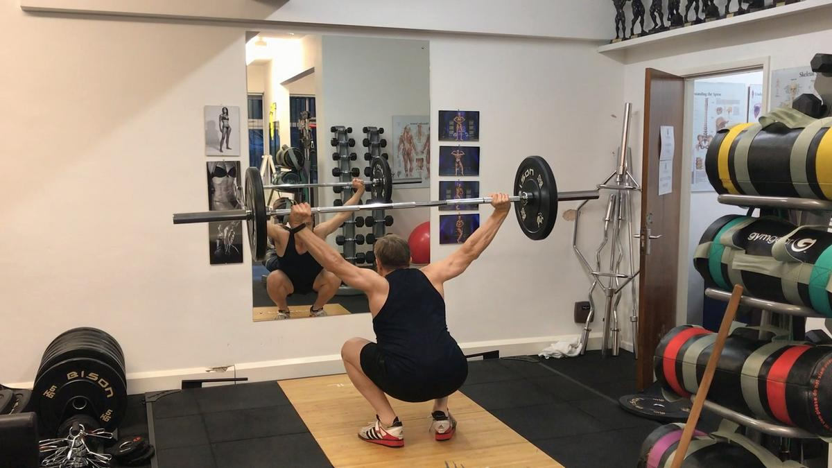 Bottom of the overhead squat. If you love lifting and you're looking for a new challenge, you could do worse than getting into the overhead squat