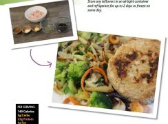 Life Force Fitness Recipe Book. Extract from one page of the recipe book.