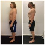 Before and after transformation of James Hogg, pt client