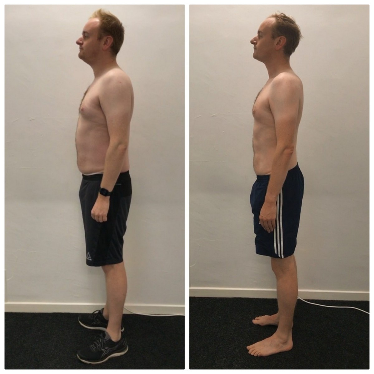 Adam Brown before and after comparison.